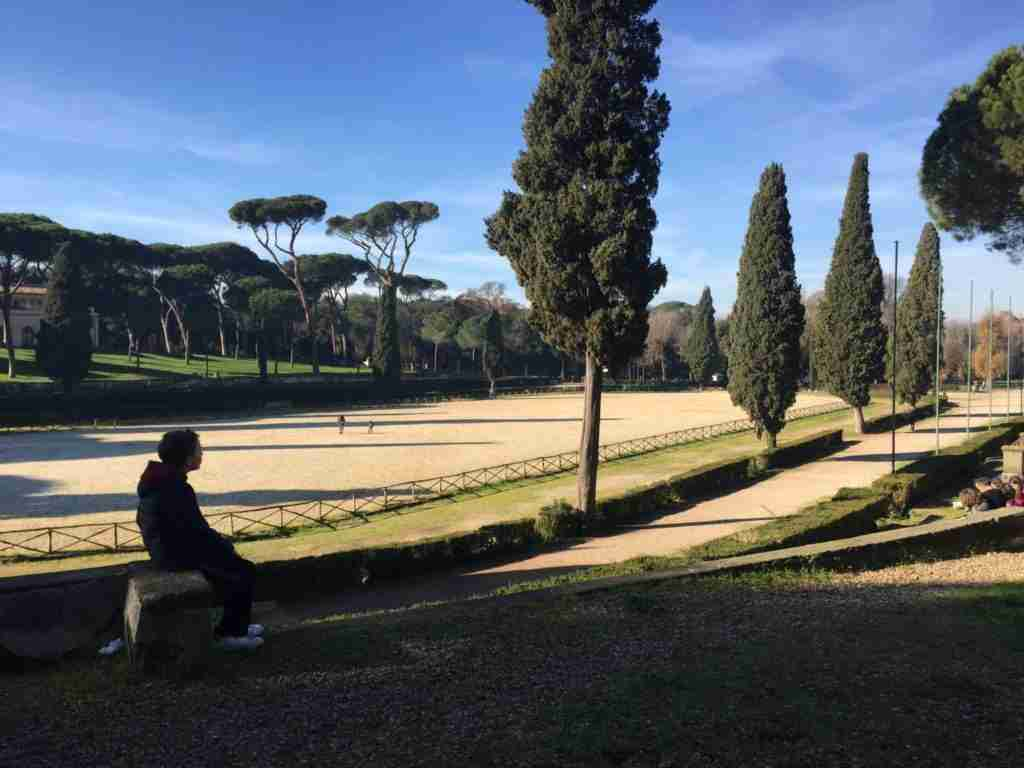 New Year's Day in Villa Borghese