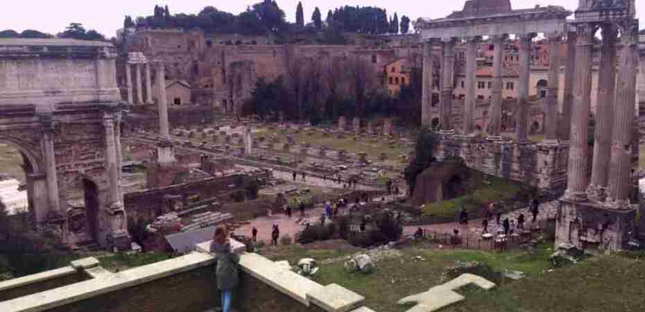 Roman Forum - Thinking Girl