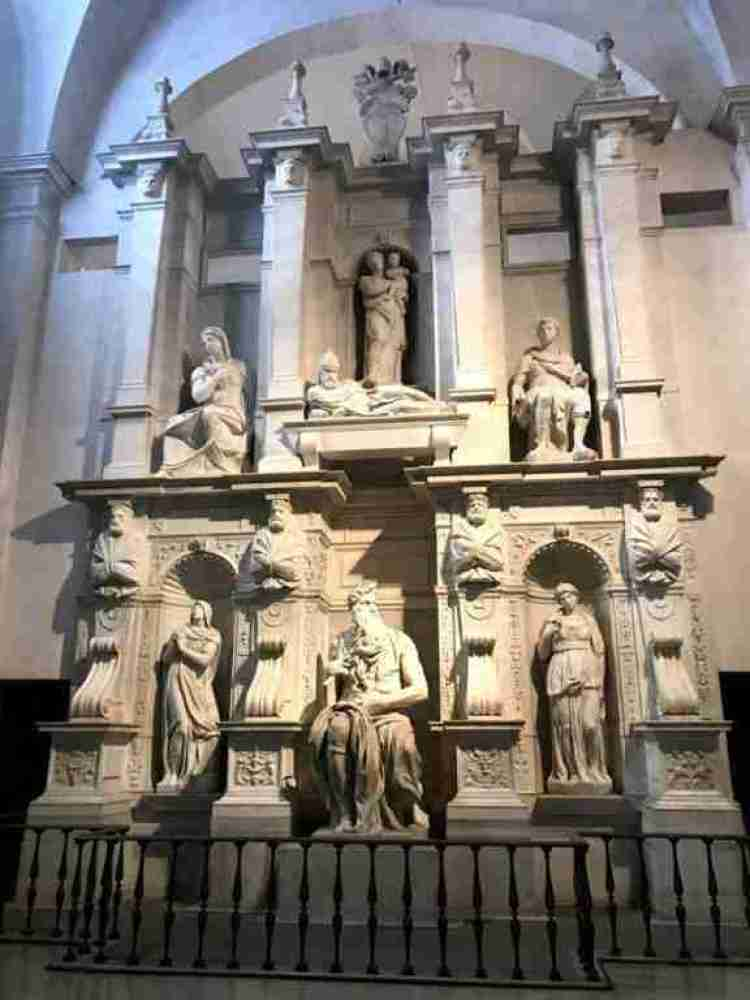 Michelangelo's Moses in San Pietro in Vincoli, Rome