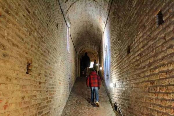 Inside the Castello Estense of Ferrara
