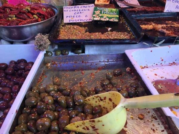 Olives at Ballarò market