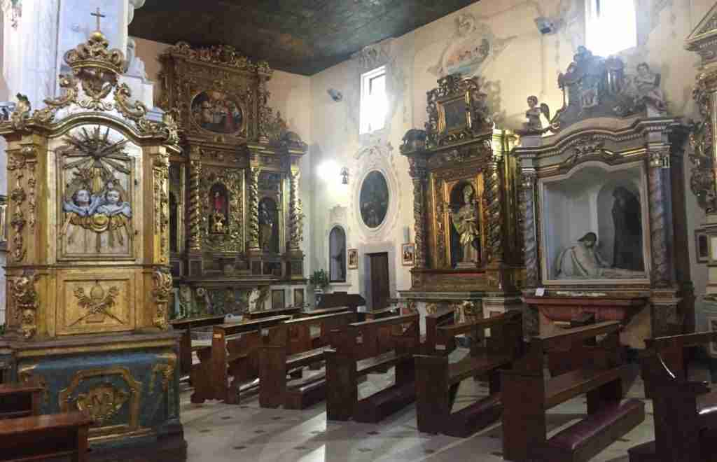 The asymmetric interior of Sant'Emidio in Agnone, Molise