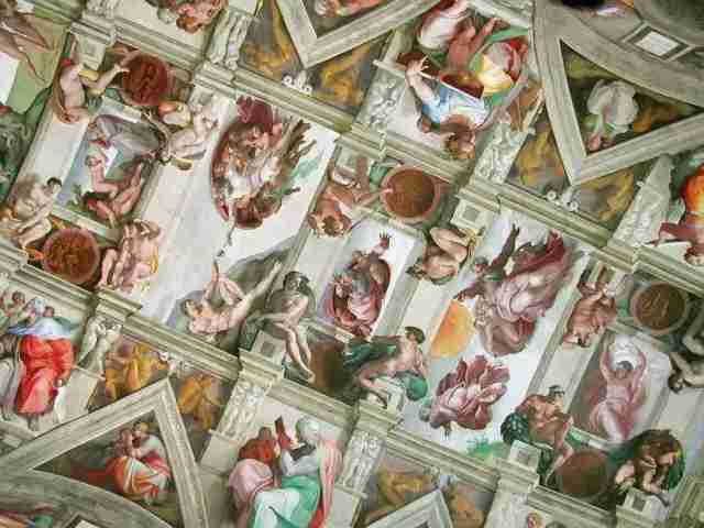 Sistine Chapel Ceiling in the Vatican Museums painted by Michelangelo