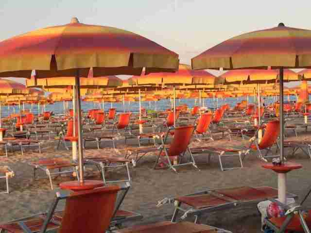 Magic hour on the beach in Giulianova, Abruzzo