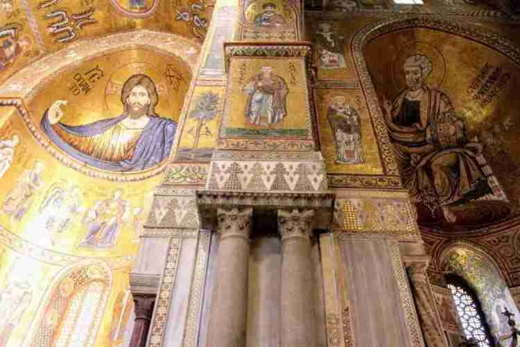 Mosaics in the Monreale Cathedral in Sicily