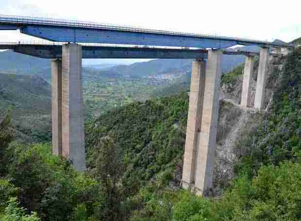 A section of Italy's A3 autostrada