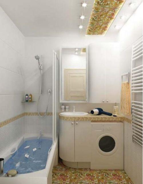 маленькая ванная комната 2 кв метра дизайн фото с ванной 3