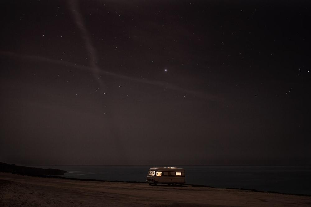 A van in the sea 11