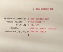 """""""The Secret Key"""" alla Zuecca Projects, Giudecca – Venezia"""