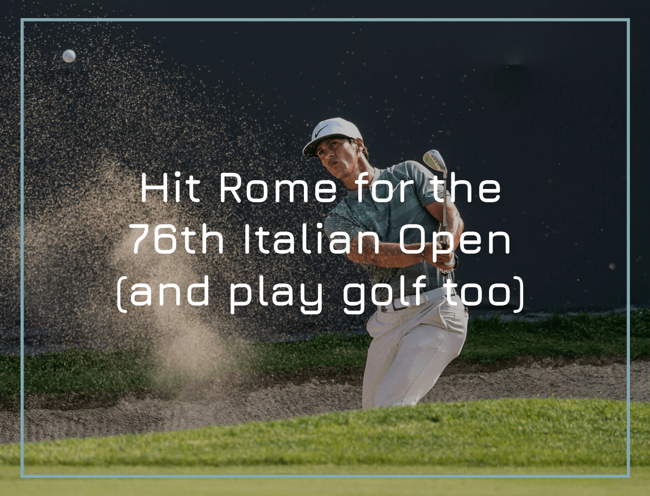 Hit Rome for the 76th Italian Open