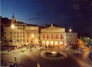 Macerata piazza liberta Marches, Italy