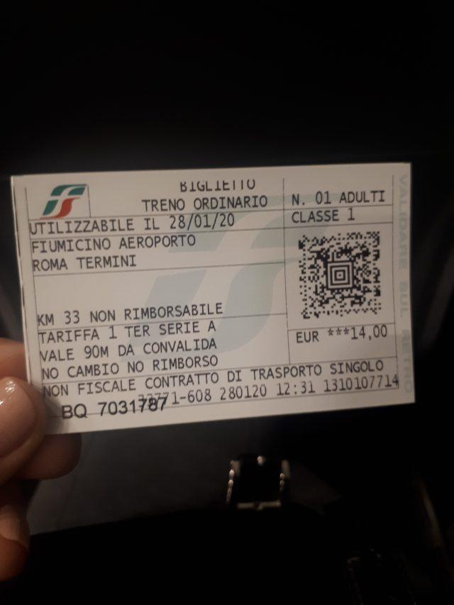 Roma treno fiumicino