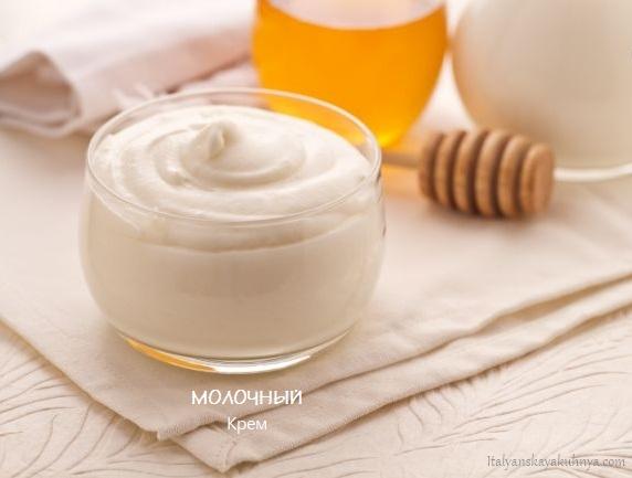 Молочный крем без яиц от italyanskayakuhnya.com