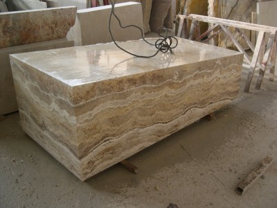 Vasca in travertino travertine stone bath - Vasche da bagno in pietra ...