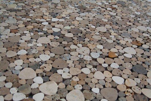 mosaico PETALI in pietra di rapolano
