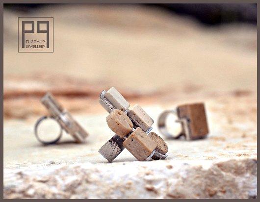 Gioielli in Pietra di Rapolano - anelli