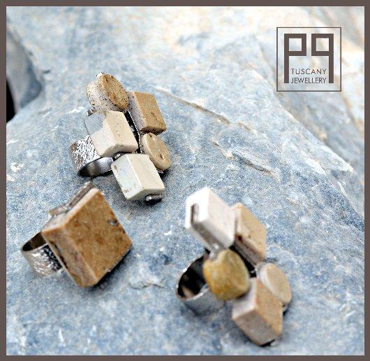 Anelli in argento e Pietra di Rapolano