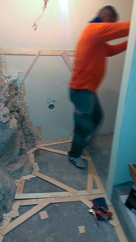 Sagome in legno realizzate in opera