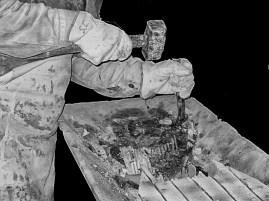 Lavabo in marmo fatto a mano