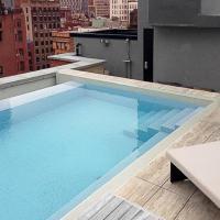 Voglia di piscina : perchè rivestirla in travertino