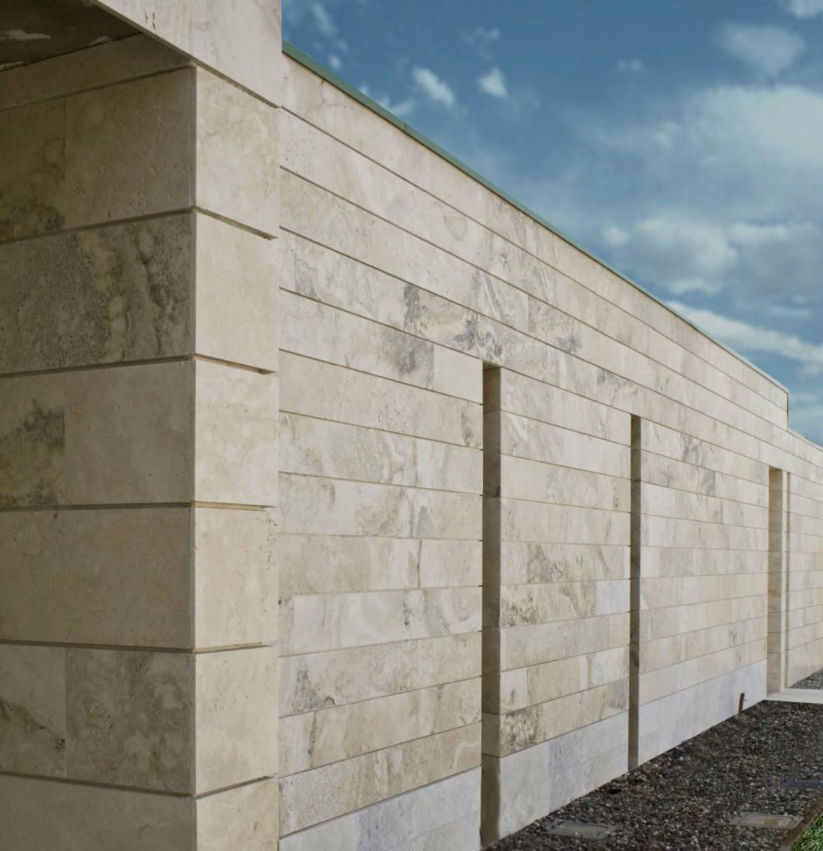 Facciate in travertino di pietre di rapolano - Rivestimenti esterni case moderne ...