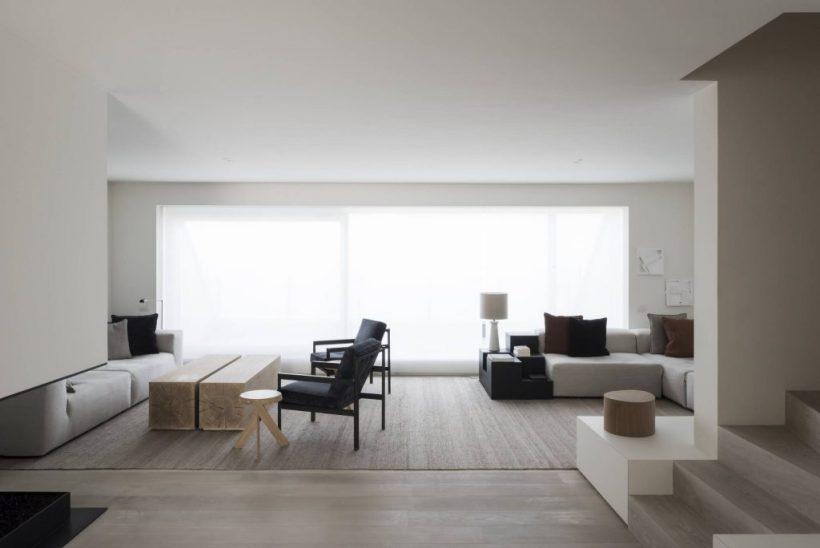 interni travertino chiaro colori naturali minimale