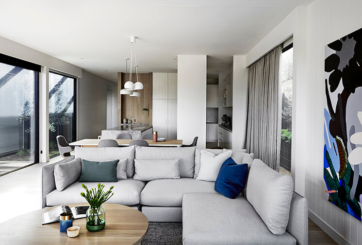 soggiorno living cucina residenza costa Portsea