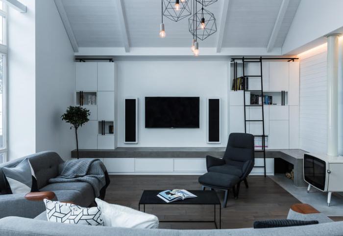 interni soggiorno casa lituania stile minimale
