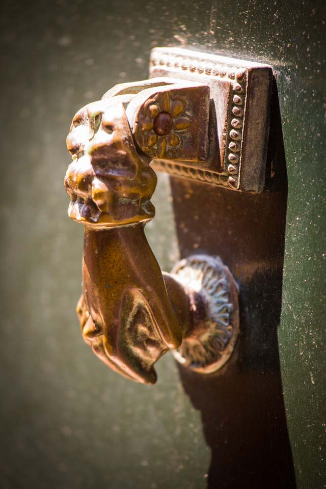 One of the most classic door knocker motifs in Venice.