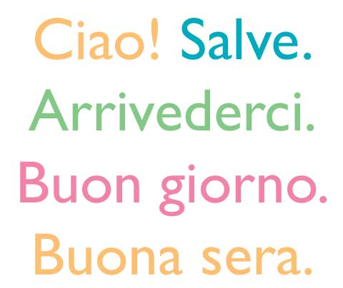 The art of italian greetings goodbyes italian hello and goodbye m4hsunfo