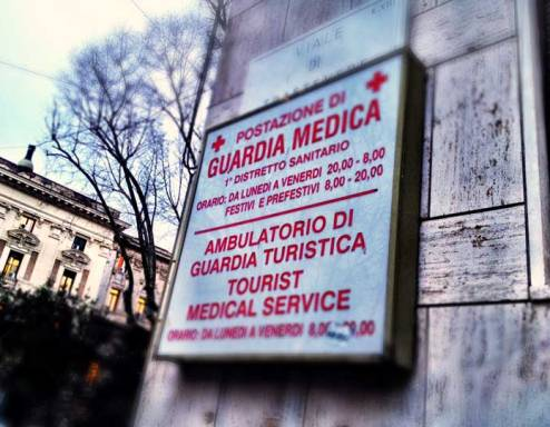 Guardia Medica - a form of urgent care available throughout Italy. Here is an office that is dedicated to tourists.