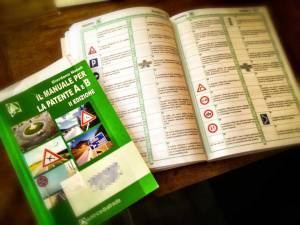 Italian driving manual and workbook.
