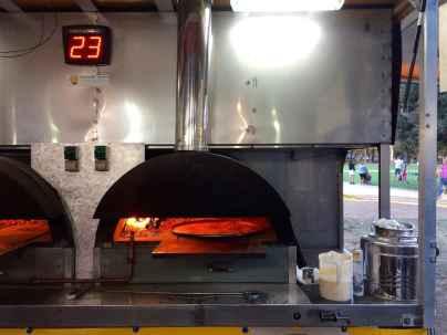 Il forno in cui viene cotta la Cecina