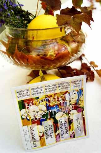 I biglietti di Montalcino d'ottobre