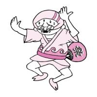 祭りで踊りを披露するおっさん(ピンク色Ver)
