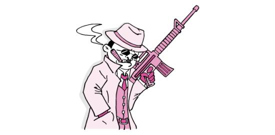 マフィアのおっさん(ピンク色Ver)