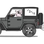 イキって運転するおっさん(黒色Ver)