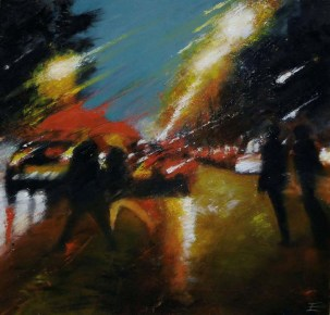 Georges V - Huile sur toile - 100 x 100 cm