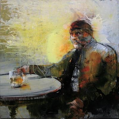 Technique mixte sur toile 130 x 130 cm
