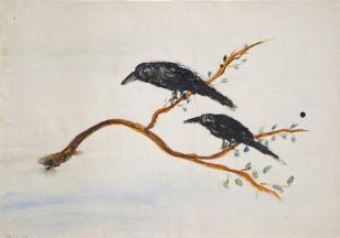 Sans titre Gouache sur papier 12 mars 1946 28 x 37,7 cm © CEE-CHSA, 2016 Inv. n°0223