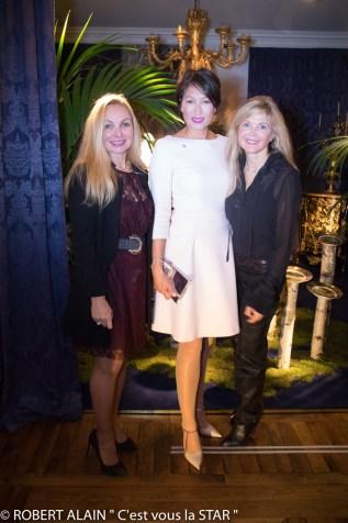 Sandrine Clavelly Pia Hofmann Piard et Princesse Sonia Poniatowski