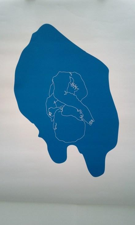 Jeremy Wood, Junior, 2013, impression d'écran, 160 x 160 cm