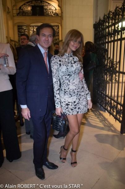 Stéphane Ruffier Meray et Zahia Dehar