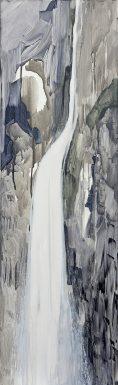 Cascade, acrylique sur toile, 120x40 cm,© Jihee Han