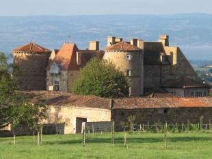 Ses tours et ses toits en tuiles sont très caractéristiques du château de Saint Marcel-de-Félines