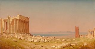 14 - Sanford Robinson Gifford, Ruines du Parthenon, 1880 - Washington, National Gallery of Art_