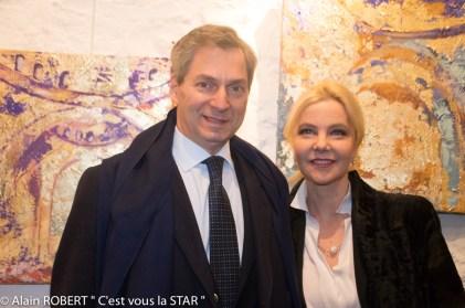 L'Ambassadeur Giandomenico Magliano et son épouse Giada
