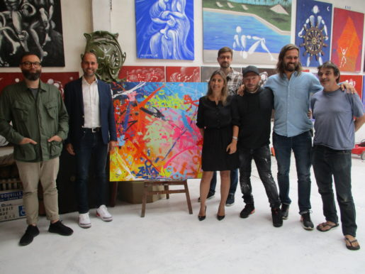les artistes et responsables Franprix