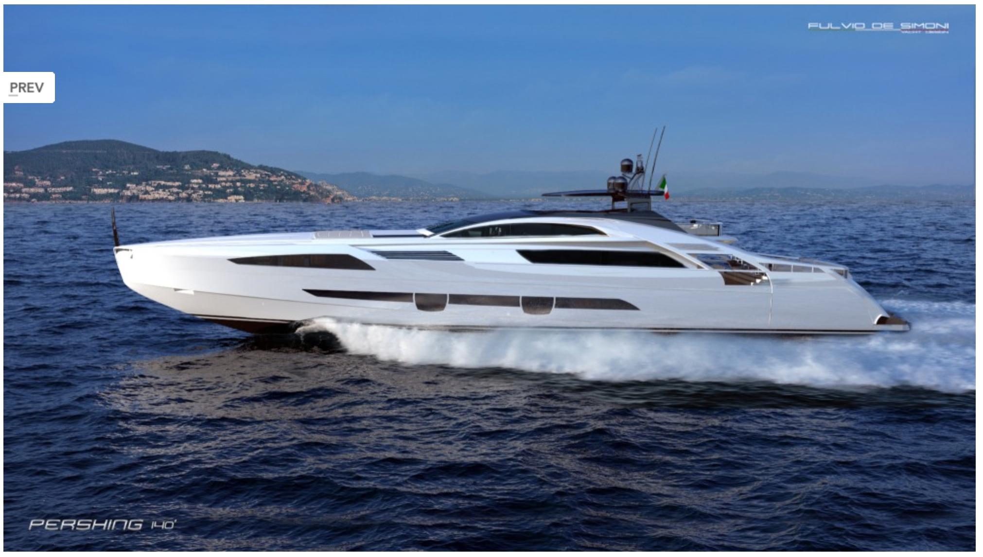 Pershing 140 Project Ita Yachts Canada