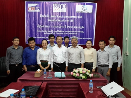 Workshop in Web Portal Management and Security for Lao Statistics Bureau